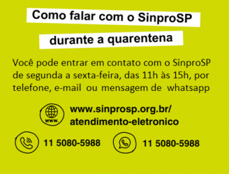 Como falar com o SinproSP